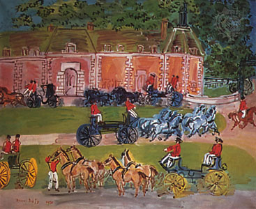 Chateau and Horses, Raoul Dufy